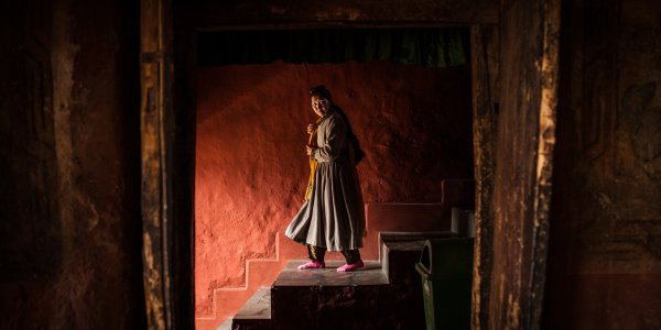 Woman in Thiksey Monastery